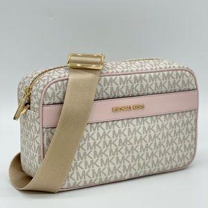 Michael Kors Large Pocket Xbody Bag Powder Blush